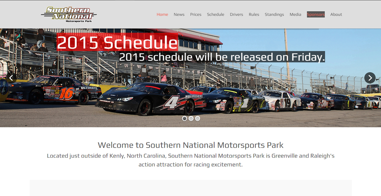 Southern National Motorsports Park Launches New Website