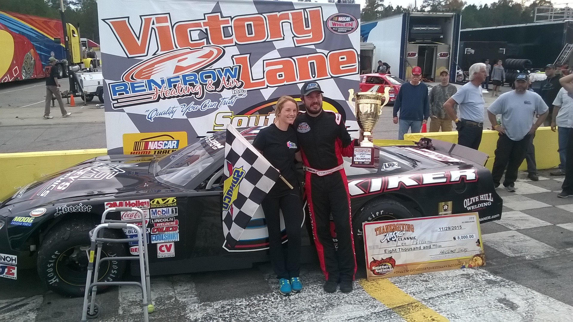 Lee Pulliam Scores Sentimental Victory in the Thanksgiving All-Star Classic at Southern National Motorsports Park