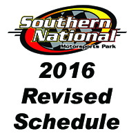 2016 Revised Schedule for Southern National Motorsports Park