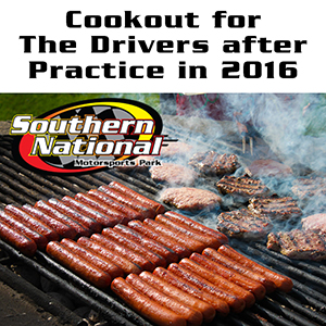 FREE Cookout for Drivers Following Friday April 8th's Season Opener Practice