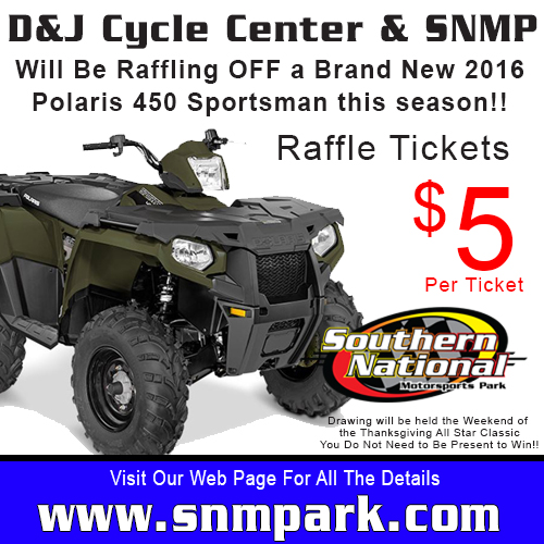 Sportsman 450 Raffle Face Book Page Ad