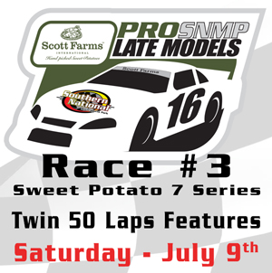 Scott Farms Sweet Potato 7 Series Race for July 9th Split to Twin 50 Lap Event