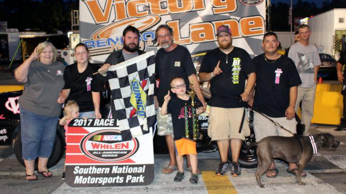 Joseph Pittman Scores Emotional First Win at Southern National Motorsports Park
