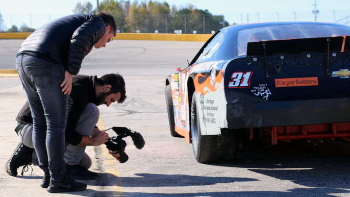 Muse Entertainment Filming Documentary on Dale Earnhardt at Southern National