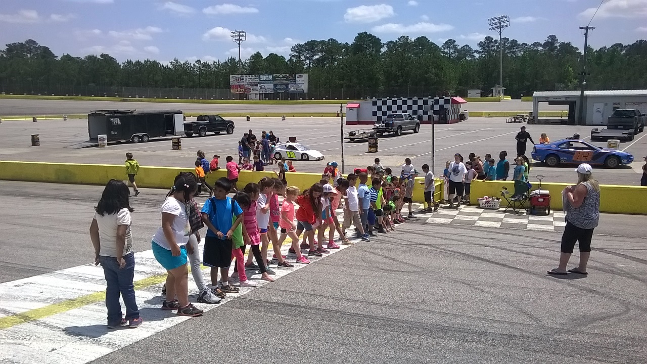 Students from Lucama Elementary School Visit Southern National Motorsports Park