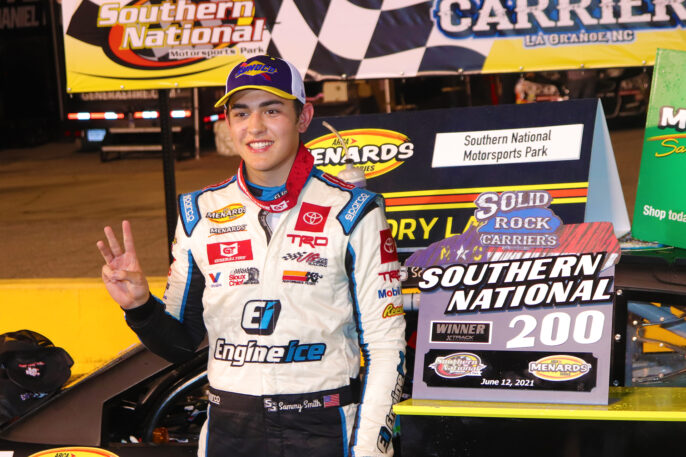 Sammy Smith pulls away late for ARCA victory at Southern National